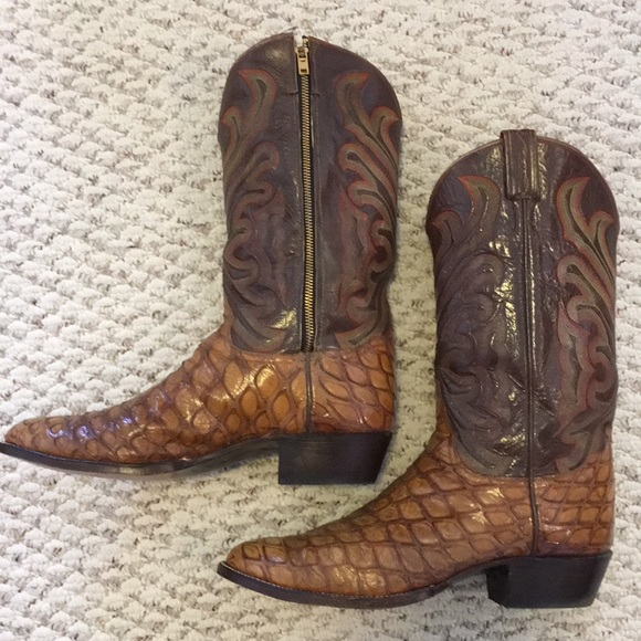 9b353f92e6c Tony Lamas Alligator belly boots